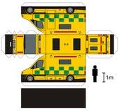 救护车的纸模型 免版税库存照片