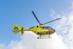 救护车直升机 医疗空气协助 库存图片