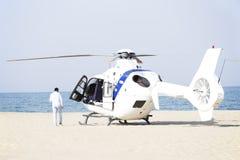 救护车直升机 免版税库存照片