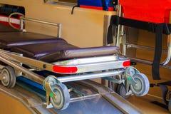 救护车紧急状态设备内部  库存图片