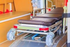 救护车紧急状态设备内部  图库摄影