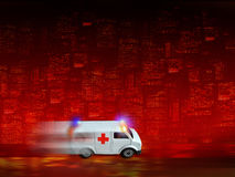 救护车背景 免版税图库摄影