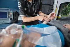 救护车评定脉冲 库存图片