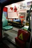 救护车详述设备事故设备内部 免版税图库摄影