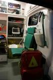 救护车详述设备事故设备内部 库存图片