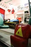 救护车详述设备事故设备内部 免版税库存图片