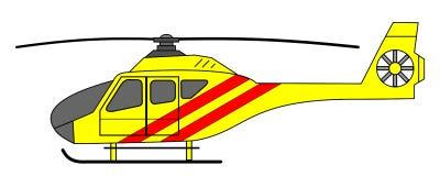 救护车直升机 免版税库存图片