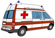 救护车 向量例证