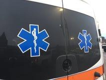 救护车EMT紧急医疗运输业务 库存照片