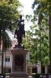 救星西蒙・波利瓦的雕象 免版税库存图片