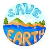 救球地球的概念 图库摄影