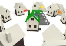 救球的高效率的能量房子世界环境 库存例证