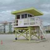 救生员在迈阿密海滩 免版税库存照片