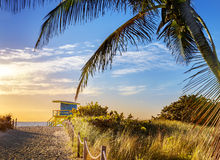 救生员塔,迈阿密海滩,佛罗里达 免版税库存照片
