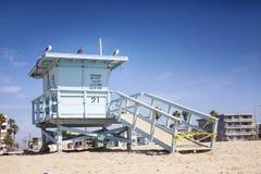 救生员岗位,威尼斯海滩,洛杉矶,美国 免版税库存照片