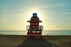 救生员房子迈阿密海滩 免版税图库摄影