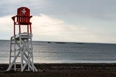 救生员椅子 免版税库存照片