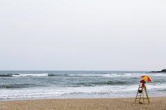 救生员椅子 免版税图库摄影