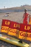 救生员海边 库存图片