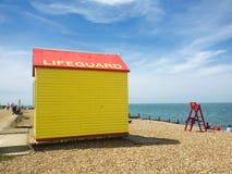 救生员海滩小屋 库存照片