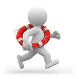 救生员运行中 免版税库存图片