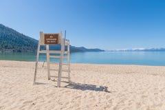 救生员Tahoe湖 免版税图库摄影