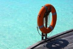 救生圈,马尔代夫 免版税库存照片