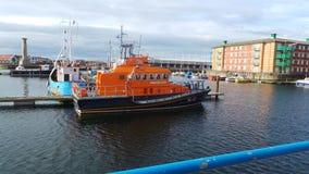 救生艇在哈特尔浦 免版税库存图片
