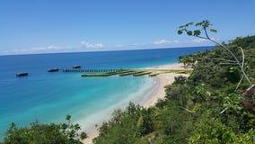 救生艇海滩 Aguadilla,波多黎各 免版税库存图片