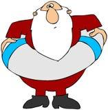 救生衣圣诞老人 库存图片