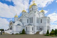救主三位一体六翼天使Diveev变貌大教堂  免版税图库摄影