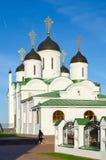 救主圣洁变貌Monastry变貌大教堂  库存图片