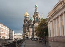 救主教会溢出的血液的圣彼德堡 免版税库存照片