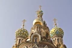 救主的基督,圣彼德堡的复活的教会溢出的血液的或大教堂 免版税库存图片