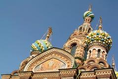 救主的基督,圣彼德堡的复活的教会溢出的血液的或大教堂 免版税库存照片