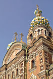 救主的基督,圣彼德堡的复活的教会溢出的血液的或大教堂 库存照片