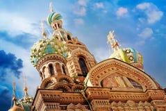 救主的基督,圣彼德堡,俄罗斯的复活的教会血液的或大教堂 免版税库存照片