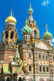 救主的教会溢出的血液的在圣彼得堡,俄罗斯 库存图片