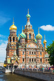 救主的教会溢出的血液的在圣彼得堡, Russi 库存照片