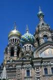 救主的教会溢出的血液的在圣彼德堡,俄罗斯 免版税图库摄影