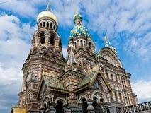 救主的教会溢出的血液的,圣彼得堡,俄罗斯 库存照片