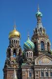 救主的教会溢出的血液的,圣彼得堡 免版税图库摄影