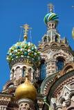 救主的教会溢出的血液的,圣彼得堡 库存图片