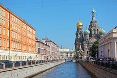 救主的教会溢出的血液的,圣彼得堡 免版税库存照片