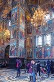 救主的教会的内部溢出的血液的在圣徒 免版税库存图片