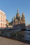 救主的教会血液的在StPetersburg,俄罗斯 免版税库存照片