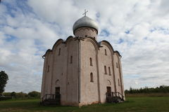 救主的教会Nereditsa的 库存照片