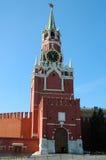 救主的(Spasskaya)塔,克里姆林宫,莫斯科 免版税库存照片