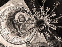 救主,圣彼德堡的教会天花板溢出的血液的 免版税库存图片