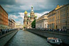 救主,圣彼德堡的教会溢出的血液的 免版税图库摄影